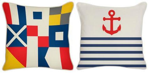 Nautical Outdoor Pillow