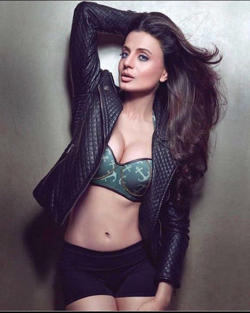 Bollywood Actress Ameesha Patel Hot Cleavage Pictures