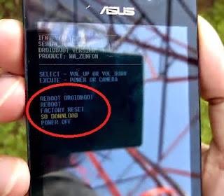 memperbaiki bootlap dengan flash di asus zenfone 4