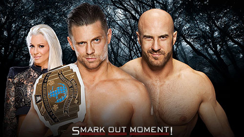 WWE Payback 2016 Cesaro vs Miz and Maryse IC Title