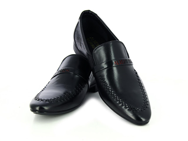 Alberto Torresi Fami Black+Red Formal Shoes