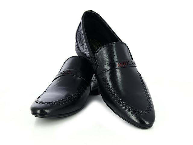 Alberto Torresi Fami Black+Red Formal Shoes
