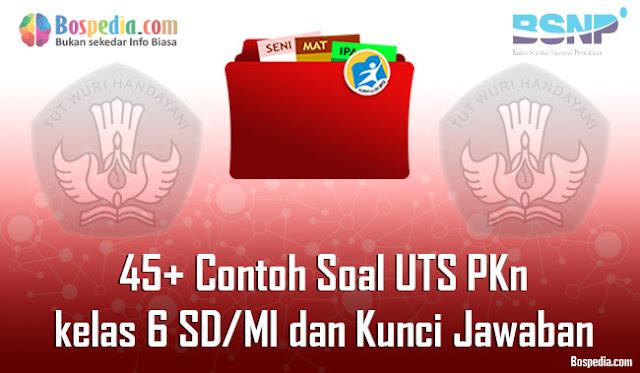 45+ Contoh Soal UTS PKn kelas 6 SD/MI dan Kunci Jawaban