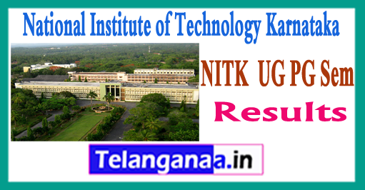 NIT Karnataka UG PG 1/3/5/7 Sem Results 2017