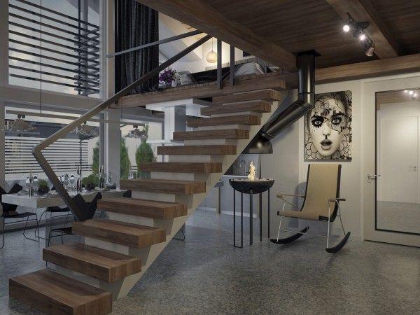 double staircase design