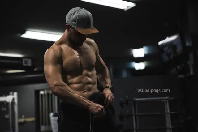 Chest Workout with name at gym for man | woman