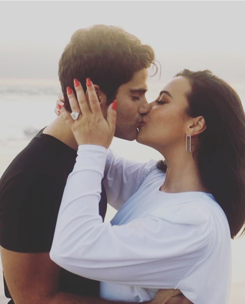 American Singer, Demi Lavato Engages Max Ehrich, Posing With Ring (Photos)