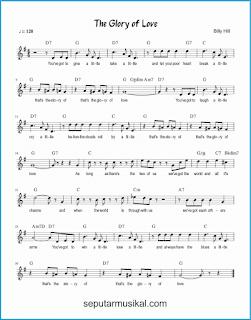 chord the glory of love lagu jazz standar