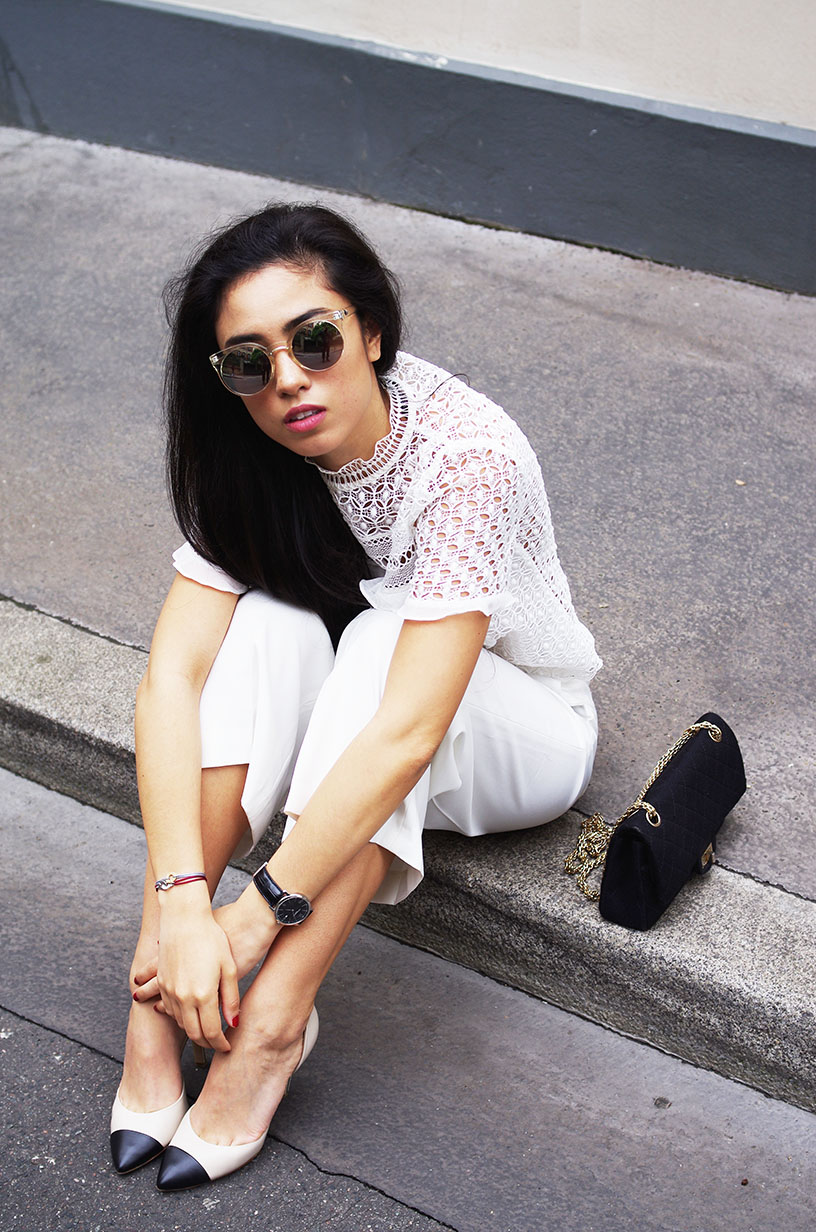 Elizabeth l Chic in white outfit post l Zara Chanel Quay Australia l THEDEETSONE l http://thedeetsone.blogspot.fr