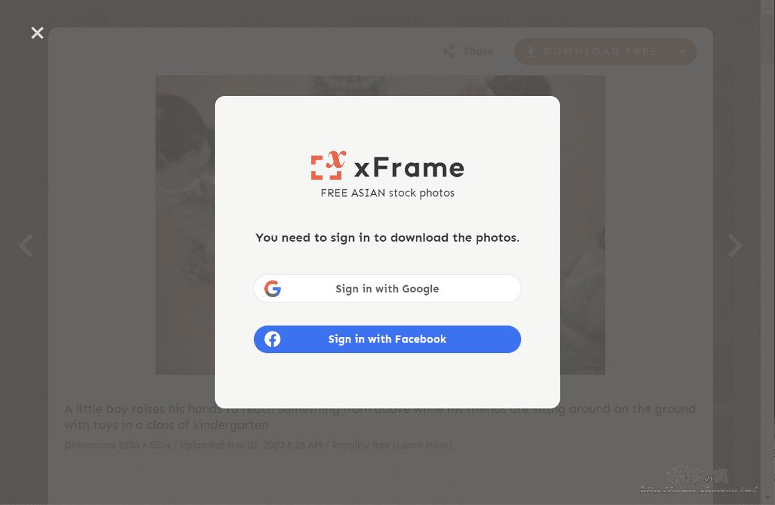 xFrame 高畫質亞洲人物圖庫網站