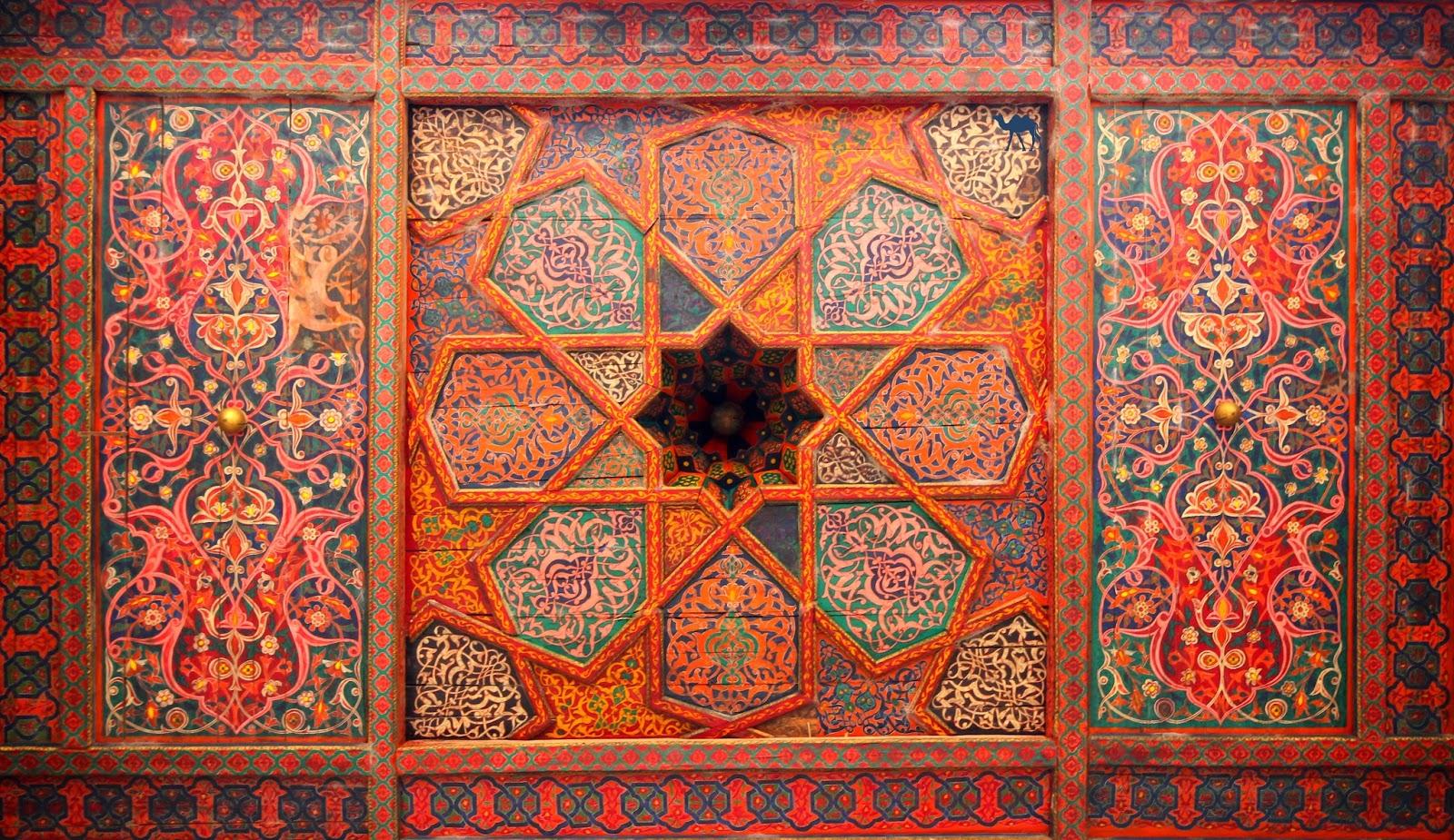 Le Chameau Bleu - Plafond du Harem - Khiva - Roadtrip en Ouzbékistan