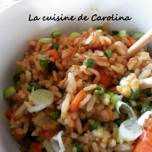 La Cuisine de Carolina: Arroz chino (fácil) / Riz chinois (facile)