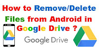 how to delete all files from google drive
