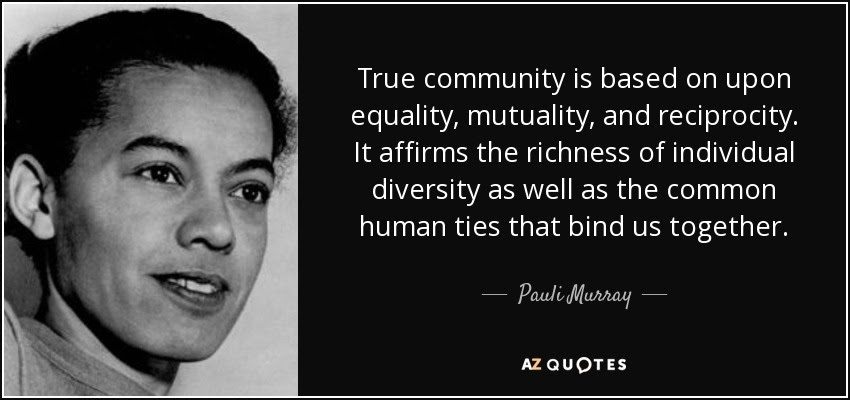 It's Pauli Murray Day here at Walk With Me On Our Journey!