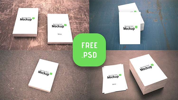 4 Business Card Mock-ups