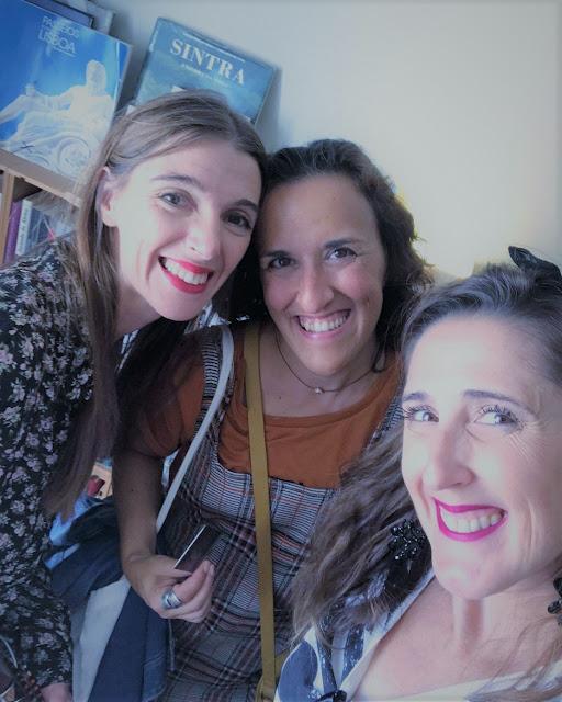 Uma cena muito gira em Cascais a selfie das miúdas e a Marisa Sousa