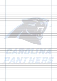 Papel Pautado Carolina Panthers PDF para imprimir na folha A4