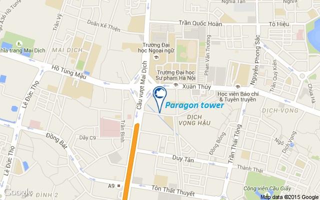 Vị trí chung cư Hà Nội Paragon Phạm Hùng