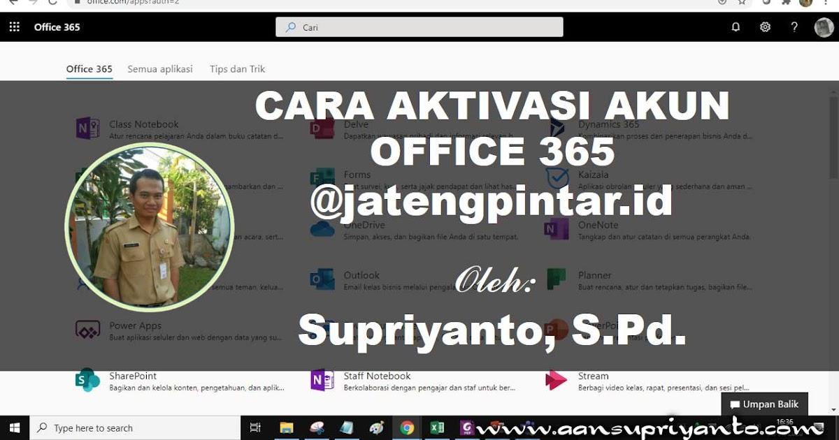 cara aktivasi akun office 365