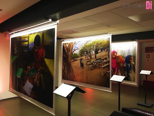 Fotografia de crianças de localidades que recebem apoio do Qatar