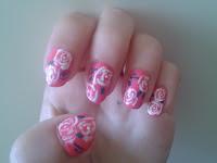 Nail art Tutorial: Roses