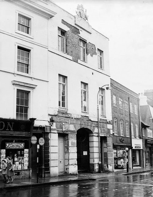 The old Athenaeum at 34 Fore Street just before demolition in the 1960s - Courtesy of Historic England