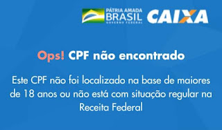 CPF negado