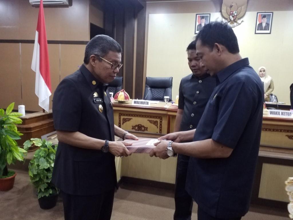 DPRD Parepare Terima Ranperda  Perubahan APBD Tahun 2019