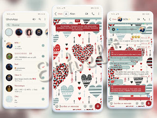Hearts Love Theme For YOWhatsApp & Aero WhatsApp By Ethel