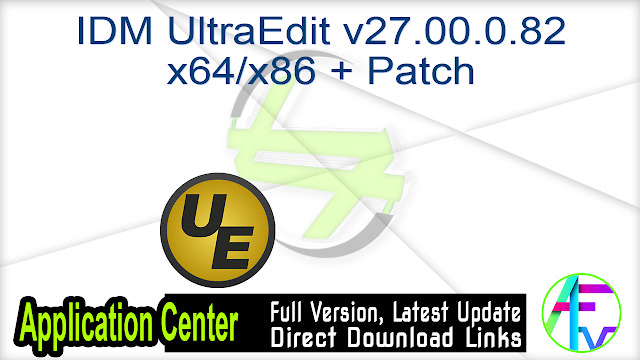 IDM UltraEdit v27.00.0.82 x64 + Patch