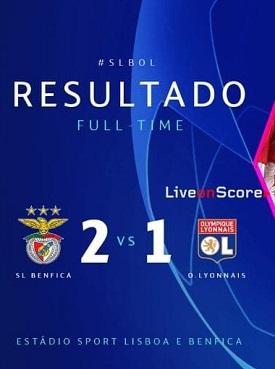 cuplikan gol liga champions benfica vs lyon 2-1