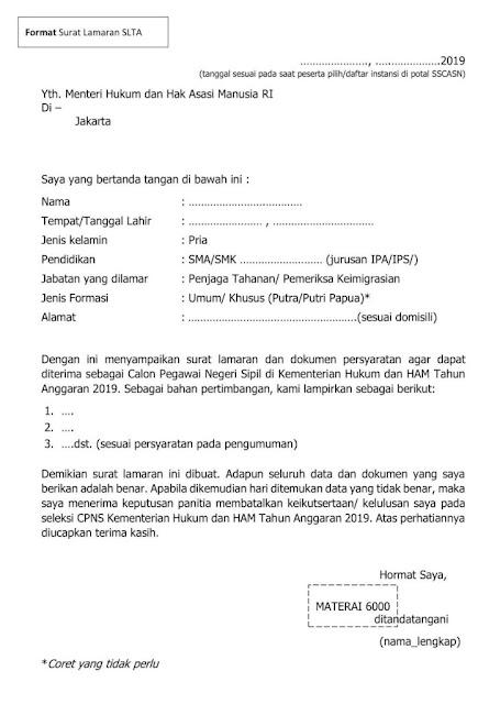 Contoh Surat Lamaran Kerja PNS yang Baik dan Benar (via: tipsgayahidup.com)