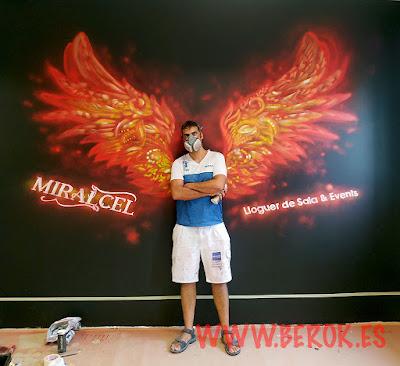 graffitis para empresas de eventos Miracel
