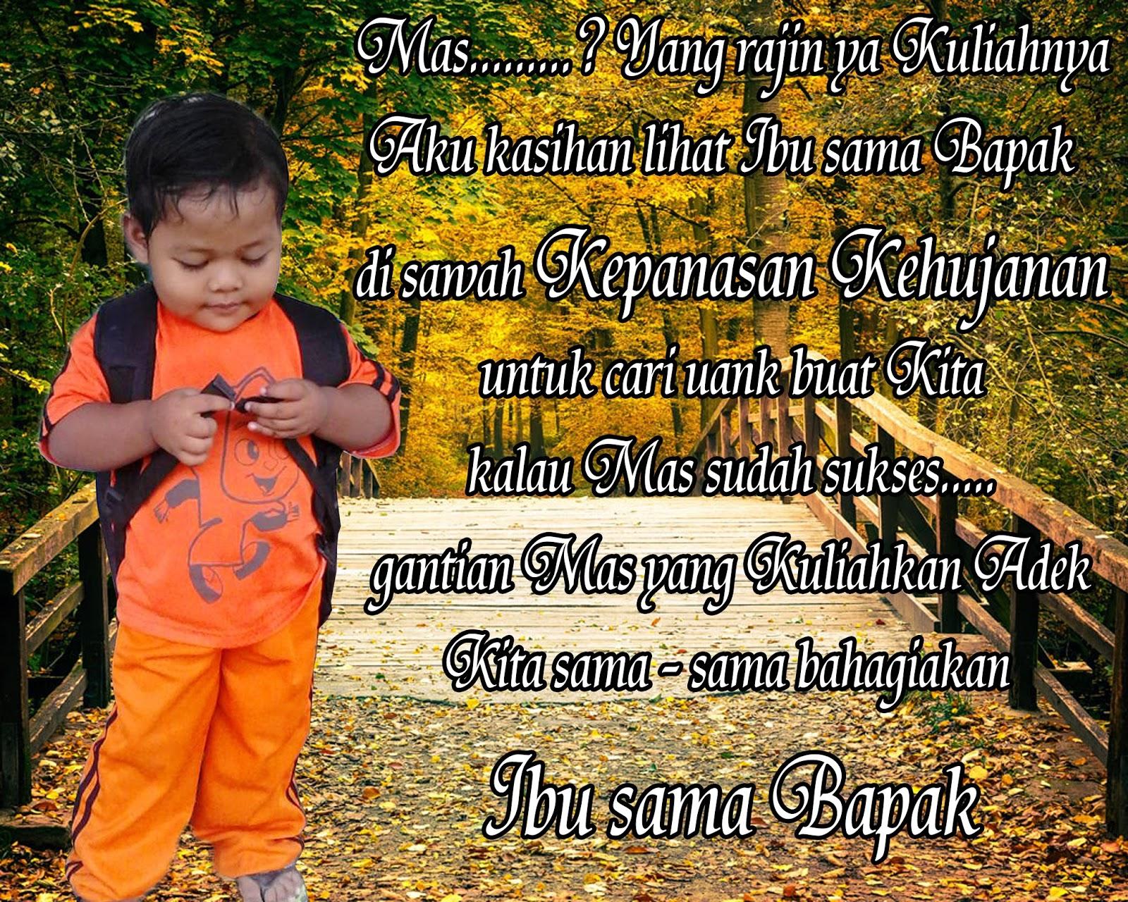Kata Kata Doa Anak Kepada Orang Tua