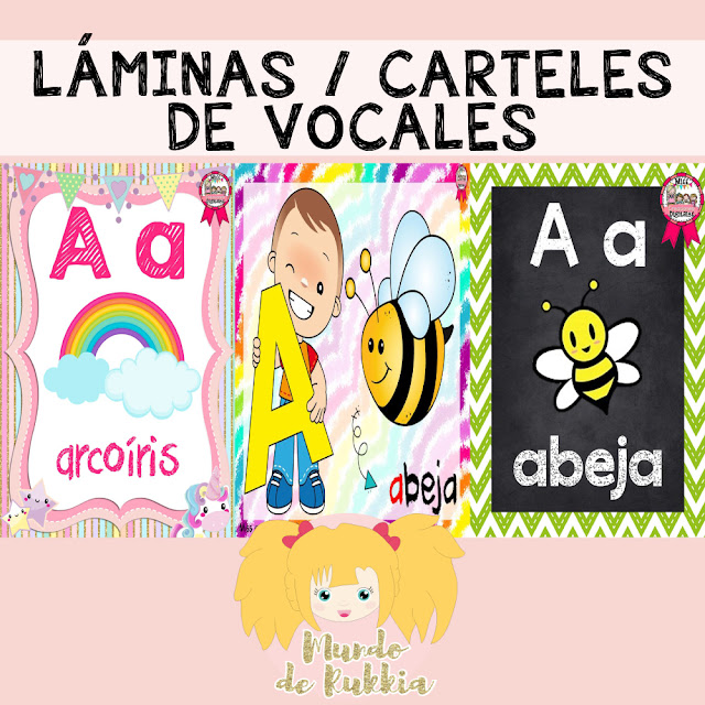 laminas-carteles-vocales-preescolar