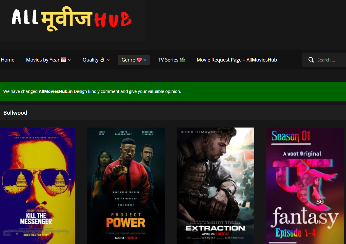 Allmovieshub 2021 - All Movies Hub Piracy 300Mb Movies Website Live Link Download 480p Movies 720p Hollywood Bollywood Movies News About Allmoviehub