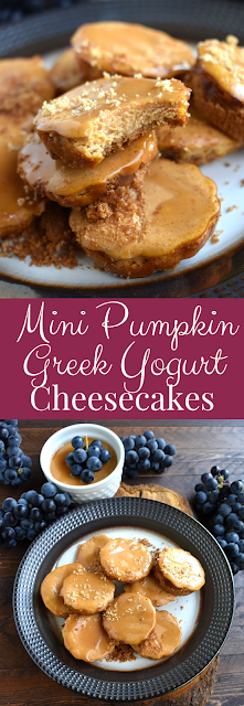mini Greek yogurt pumpkin cheesecakes recipe