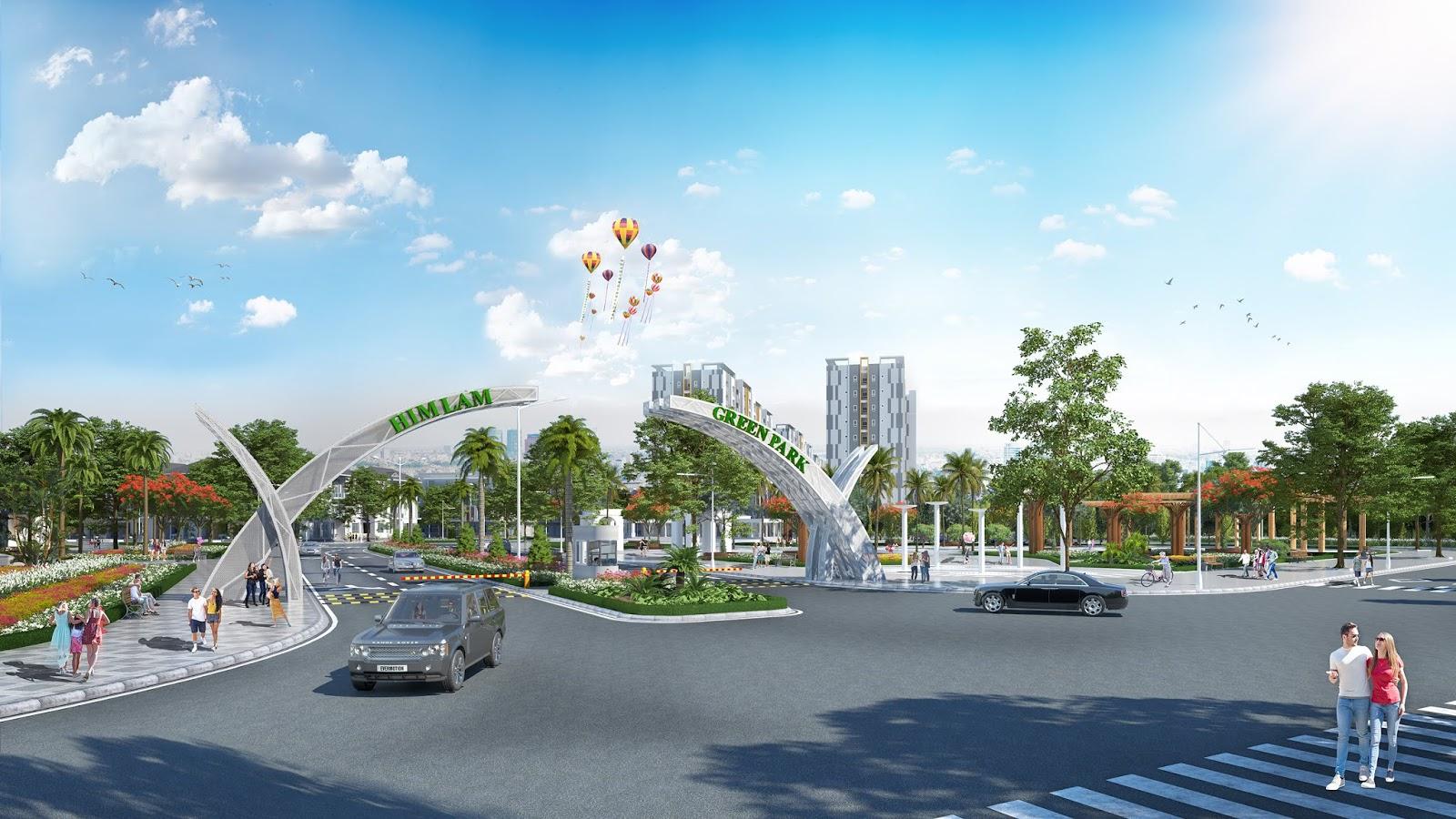 Cổng chào của Him Lam Green Park