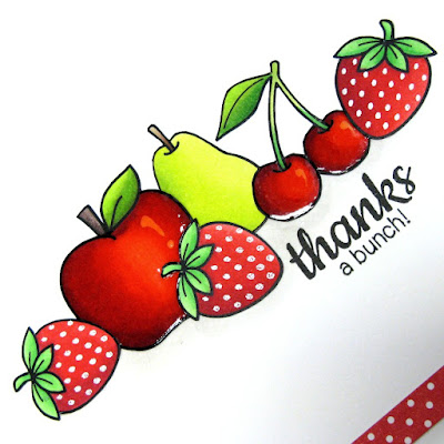 Sunny Studio Stamps: Thanks A Bunch Card (using Fresh & Fruity and School Time stamps)