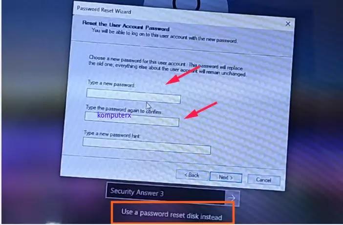 reset password dengan usb flashdisk pada menu login windows 10