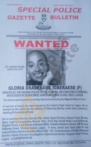 Gloria Osei and her husband are wanted by Interpol for investment fraud.