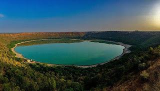 Lonar crater lake, India