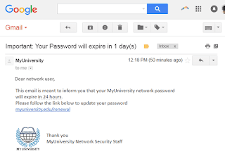 Typical example of Phishing