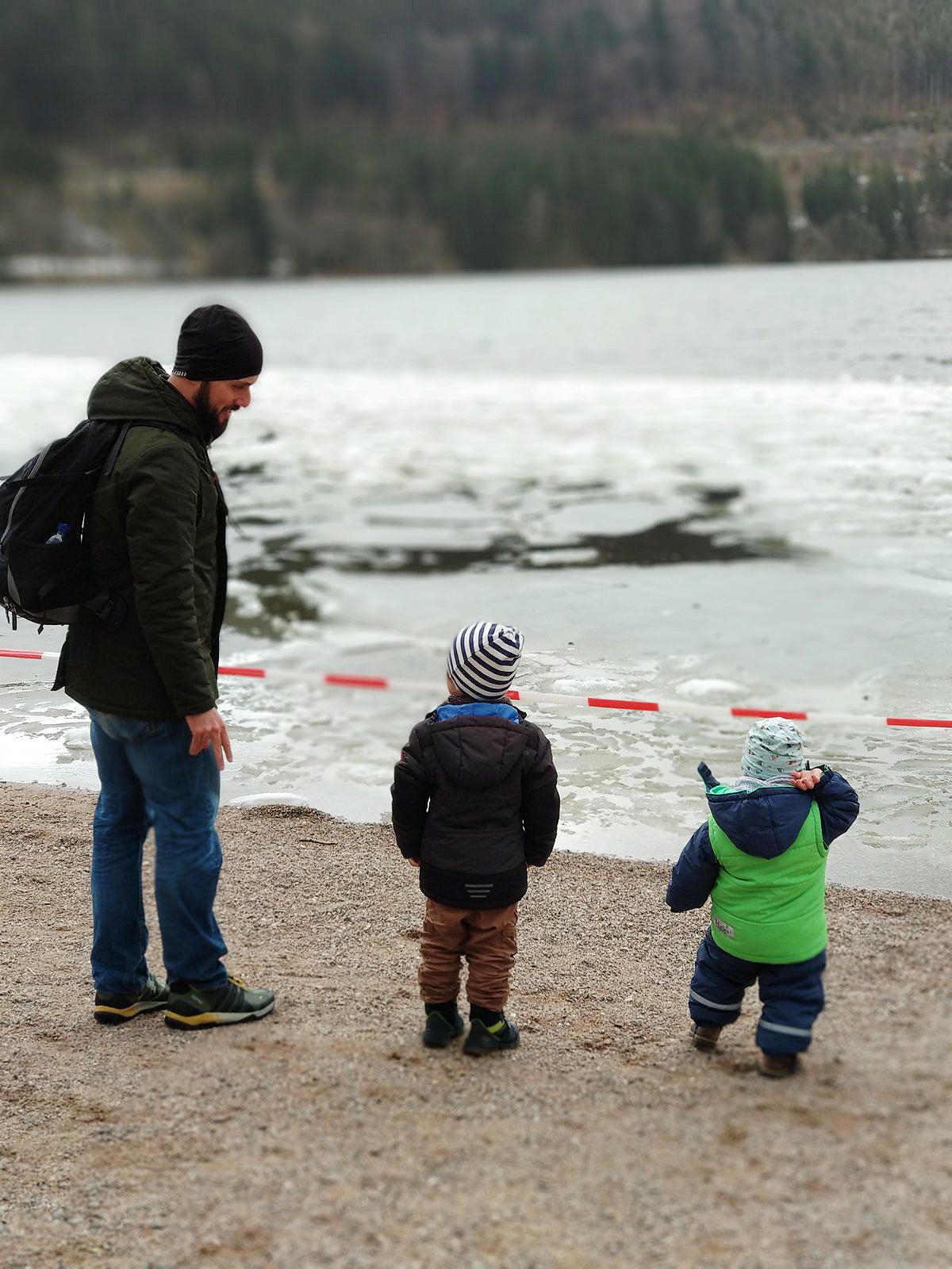 Familientreffen mit Kulisse: Meine Jungs am Titisee