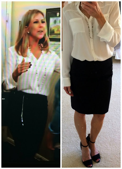 Vicky Gunvalson outfit from Brianna visit