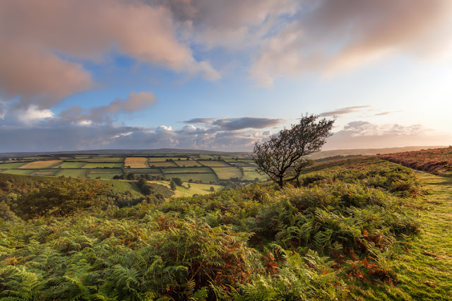 Sunrise image from Winsford Hill overlooking the Punchbowl in Exmoor National Park