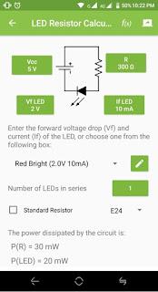 menghitung resistor untuk LED