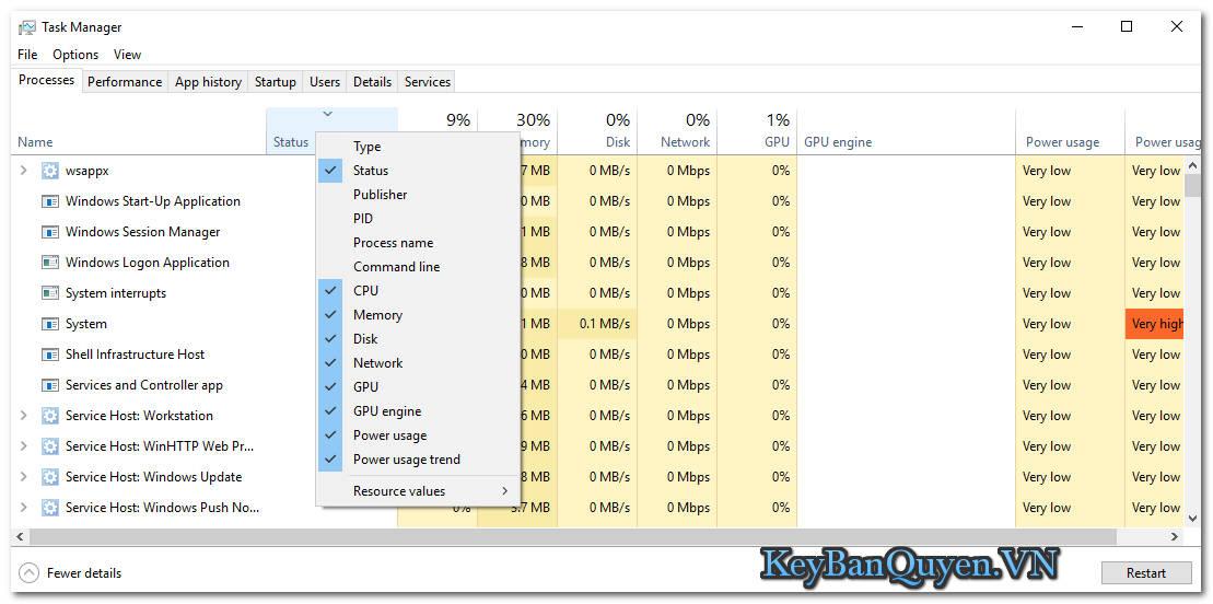 Tìm hiểu và sử dụng Windows Task Manager.