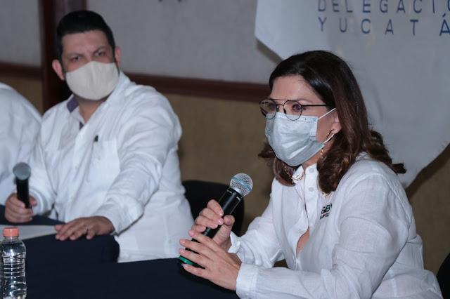Afiliados de Canaive Yucatán se reúne con la candidata a diputada federal del PRI, Gabriela Cejudo Valencia