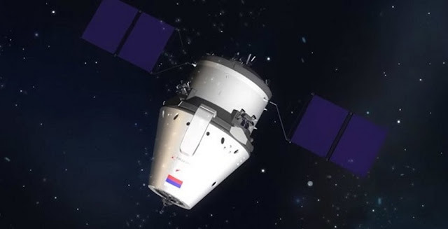 Artist's rendering of the Federation spacecraft. Credit: Roscosmos